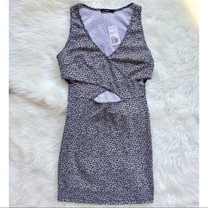 Forever XXI Black and White Dress With Cutout